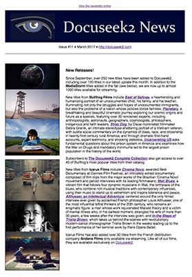 Docuseek2 2.0 Newsletter #11