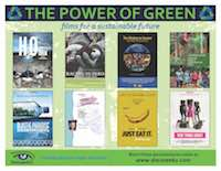 The Power of Green (sustainability) flyer