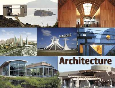 Architecture postcard flyer
