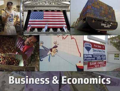 Business and Economics postcard flyer