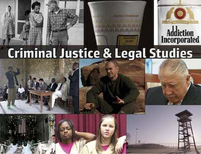 Criminal Justice and Legal Studies postcard flyer